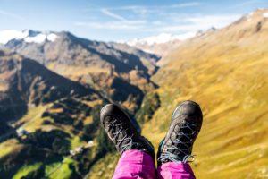 leichter Bergschuh Gleitschirm Lowa
