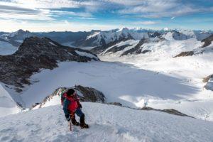 Bergsteigen Berner Oberland Gletscher Hochtour