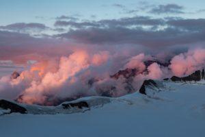 Berner Oberland Wolkenstimmung Rot