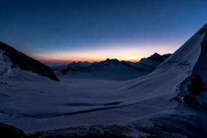 Schreckhorn Sonnenuntergang Berner Oberland