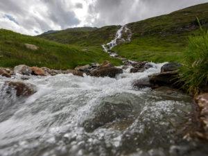 Gebirgsbach, Ötztal, Wasserfall