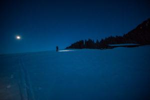 Zum Sonnenaufgang auf Skitour.