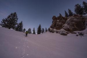 Skitour zum Heidenkopf, Nagelfluh