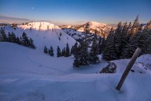 Skitour Heidenkopf, Blick auf Girenkopf. Balderschwang