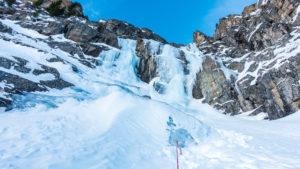 Eisschlauch, Renkfälle, Abstieg
