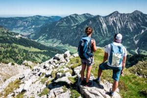 Bergsteiger Pärchen Panorama Berge