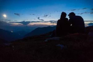 Biwak in den Bergen