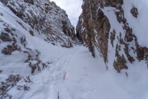 Gully in Südtirol, auch ohne Eis machts Spaß