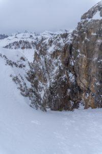 Herrliches Skigelände im Abstieg vom Torre Vitty