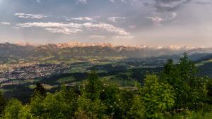Sonnenuntergang Nebelhorn Hindelanger Klettersteig Allgäu