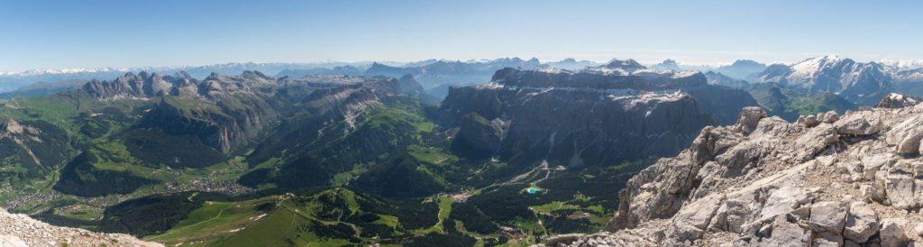 Panorama Langkofel Aussicht Dolomiten