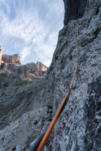 Dibona Fedele unterer Wandteil kurz vor Wasserfall