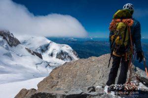 Teufelsgrat geschafft! Am Gipfel des Mont Blanc du Tacul