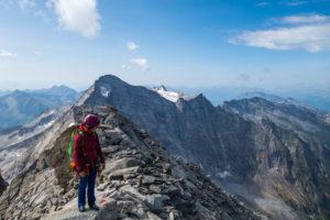 Gipfel Fußstein, Scharmmacher im Hintergrund (© Michi D.)