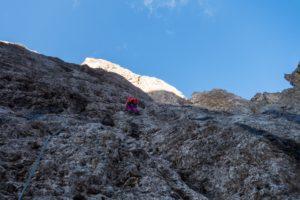 Daumenkante Fünffingerspitze Alpinklettern Dolomiten