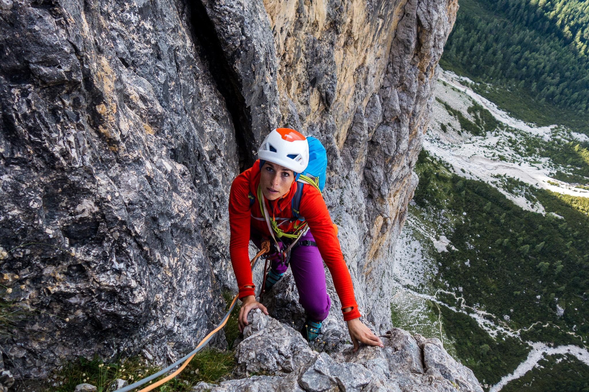 Klettergurt Alpinklettern : Alpinklettern dolomiten fedele dibona pordoi sella