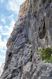 Dolomiten Alpinklettern Wasserfall Pordoi