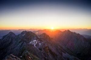 Sonnenaufgang Zugspitze Jubiläumsgrat