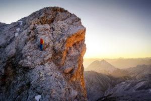 Jubiläumsgrat Stopselzieher Zugspitze Sonnenaufgang