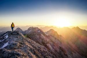 Jubiläumsgrat Zugspitze Herbst Sonnenaufgang