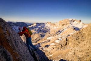 Kletterei am Jubiläumsgrat