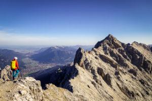 Blick in Richtung Alpspitze auf dem Jubiläumsgrat, kurz vor der Biwakschachtel. Glaube ich =)