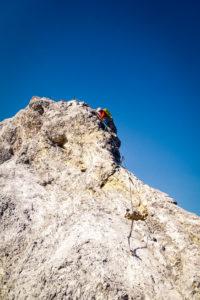 Am Ende ist der Jubiläumsgrat dann doch mehr Klettersteig als Klettergrat.