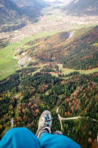 Gleitschirm Osterfelderkopf Jubiläumsgrat Zugspitze