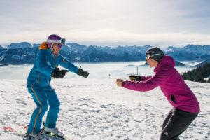 Skikurs Allgäu Tiefschnee Ofterschwang