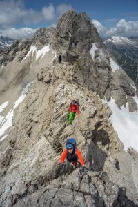 Bergsteigerin Klettererin