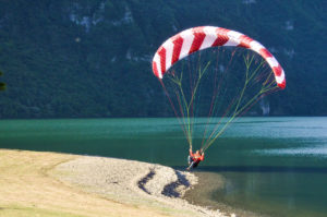 Punktlandung Landung Gleitschirm Eki Maute