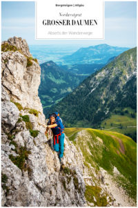 Großer Daumen Nordwest Grat Allgäu Bergsteigen Klettern Bergtour