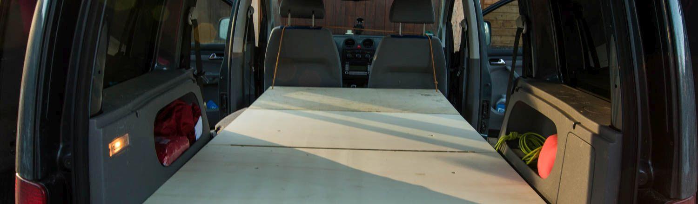 vw caddy bett ausbau bauanleitung f rs selber bauen. Black Bedroom Furniture Sets. Home Design Ideas