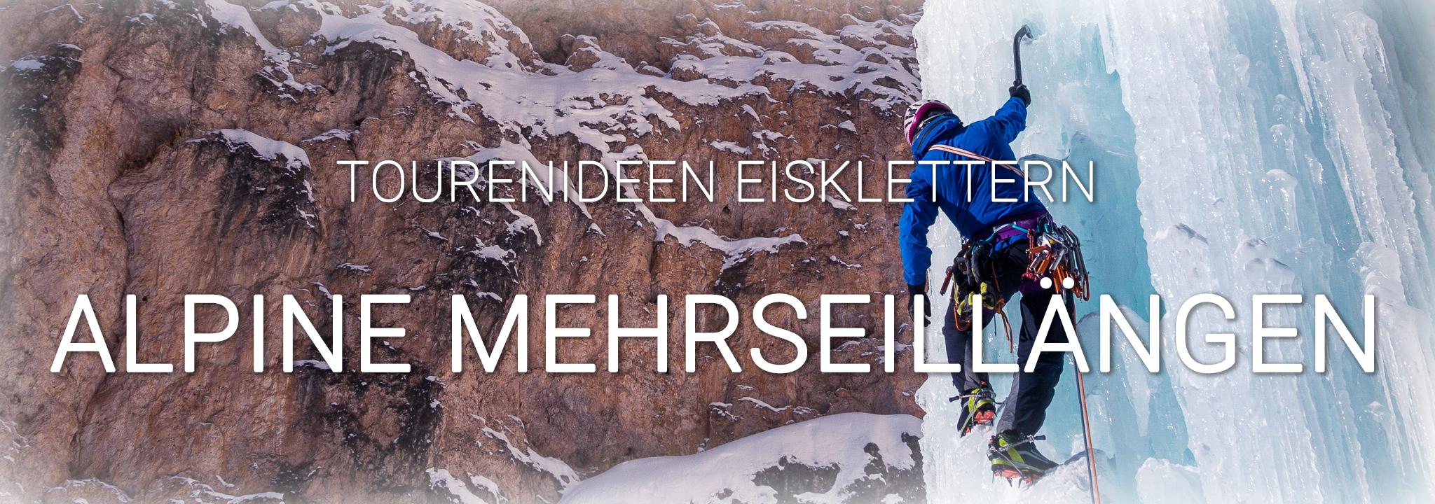 alpines Eisklettern in Südtirol