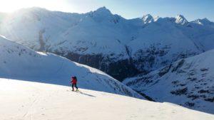 Winter Bresslauer Hütte Zustieg