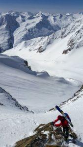 Klettersteig Mitterkarjoch Wildspitze Winter