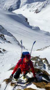 Im Klettersteig im Mitterkarjoch (Wildspitze)