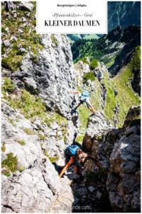 Pfannenhölzer Grat Allgäu Bergsteigen Klettern Bergtour