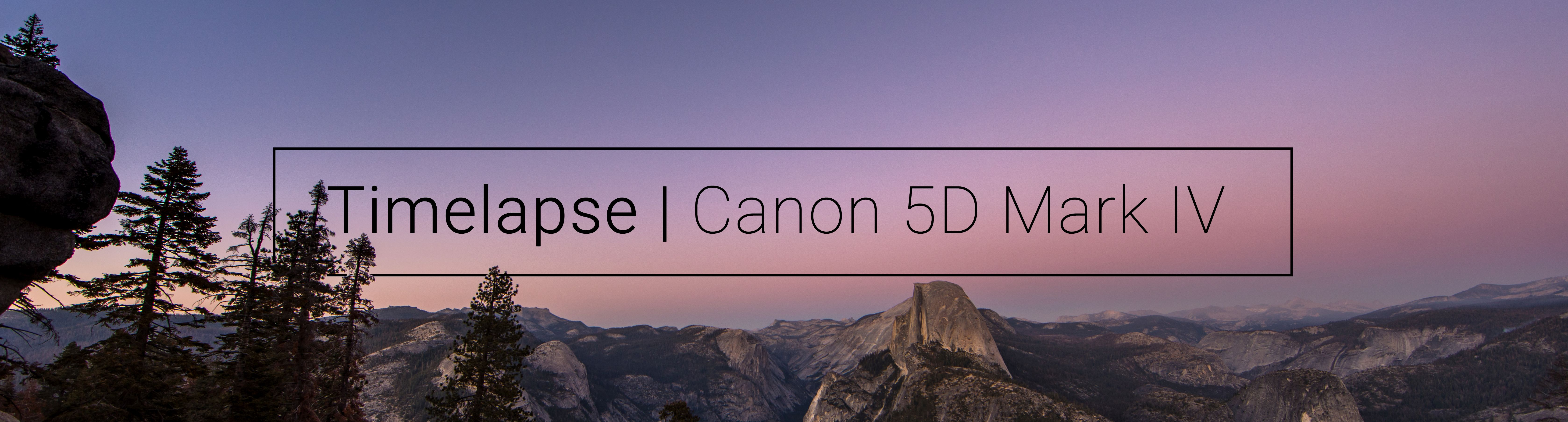 How to: Bewegte Timelapse mit Canon 5D Mark IV von Tag zu Nacht ...